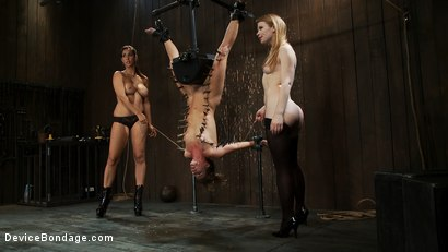 Photo number 10 from Ariel X is trapped in an inverted Sybian and cumming  No hope for escape - only screaming. shot for Device Bondage on Kink.com. Featuring Isis Love, Madison Young and Ariel X in hardcore BDSM & Fetish porn.