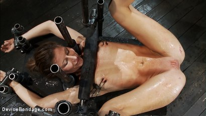 Photo number 12 from What do you call a day where a girl gets<br>Fisted, Ass Fucked, & Made to Squirt over her own head? shot for Device Bondage on Kink.com. Featuring Isis Love, Madison Young and Ariel X in hardcore BDSM & Fetish porn.
