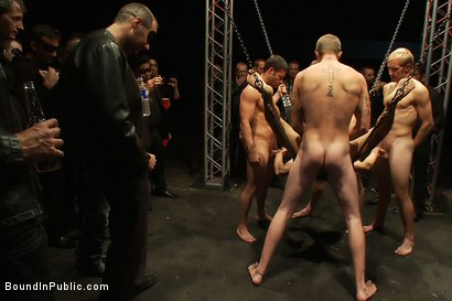 Photo number 11 from The Sacrificial Cum Whore - Halloween Update shot for Bound in Public on Kink.com. Featuring Shane Frost, Tristan Jaxx and Christian Wilde in hardcore BDSM & Fetish porn.