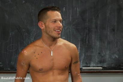 Photo number 15 from The Sacrificial Cum Whore - Halloween Update shot for Bound in Public on Kink.com. Featuring Shane Frost, Tristan Jaxx and Christian Wilde in hardcore BDSM & Fetish porn.