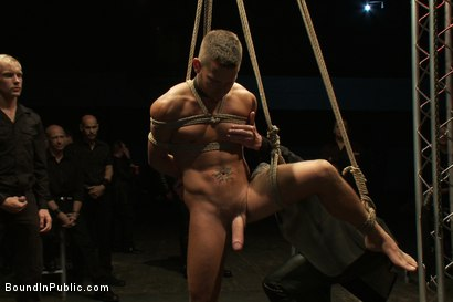 Photo number 5 from The Sacrificial Cum Whore - Halloween Update shot for Bound in Public on Kink.com. Featuring Shane Frost, Tristan Jaxx and Christian Wilde in hardcore BDSM & Fetish porn.