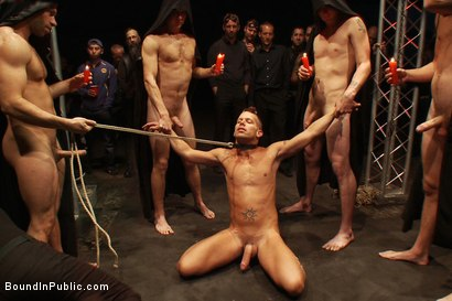 Photo number 2 from The Sacrificial Cum Whore - Halloween Update shot for Bound in Public on Kink.com. Featuring Shane Frost, Tristan Jaxx and Christian Wilde in hardcore BDSM & Fetish porn.