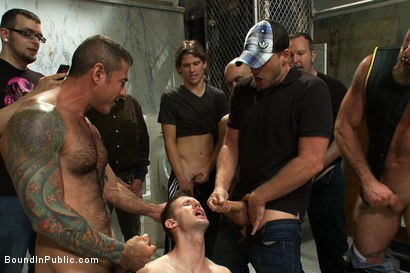 Photo number 5 from Cruising for Sex with Troy shot for Bound in Public on Kink.com. Featuring Nick Moretti and Troy Daniels in hardcore BDSM & Fetish porn.