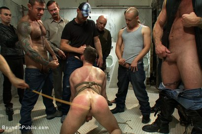 Photo number 7 from Cruising for Sex with Troy shot for Bound in Public on Kink.com. Featuring Nick Moretti and Troy Daniels in hardcore BDSM & Fetish porn.