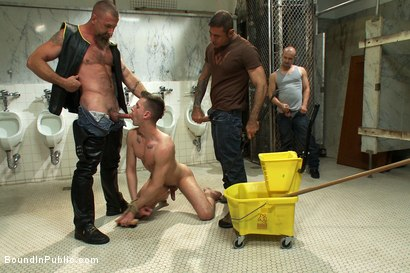 Photo number 1 from Cruising for Sex with Troy shot for Bound in Public on Kink.com. Featuring Nick Moretti and Troy Daniels in hardcore BDSM & Fetish porn.