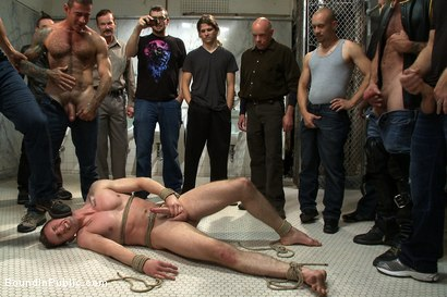 Photo number 6 from Cruising for Sex with Troy shot for Bound in Public on Kink.com. Featuring Nick Moretti and Troy Daniels in hardcore BDSM & Fetish porn.