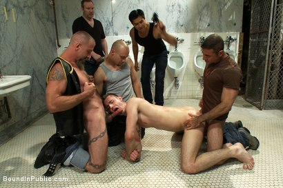 Photo number 2 from Cruising for Sex with Troy shot for Bound in Public on Kink.com. Featuring Nick Moretti and Troy Daniels in hardcore BDSM & Fetish porn.