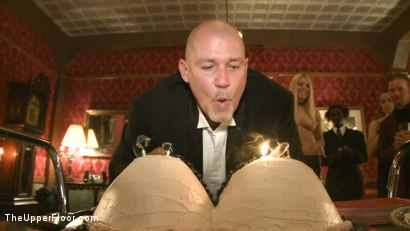 Photo number 1 from Mark Davis' Birthday shot for The Upper Floor on Kink.com. Featuring Cherry Torn and Bella Rossi in hardcore BDSM & Fetish porn.
