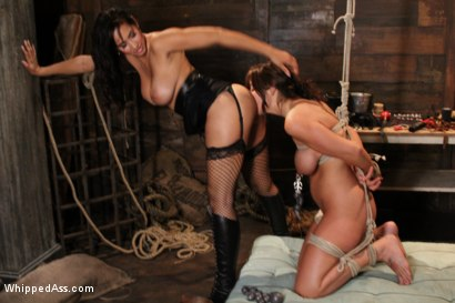 Photo number 5 from Whipped Ass LIVE in August shot for Whipped Ass on Kink.com. Featuring Isis Love and Beverly Hills in hardcore BDSM & Fetish porn.