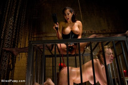 Photo number 14 from The House Always Wins <br> Electricity is Queen shot for Wired Pussy on Kink.com. Featuring Isis Love and Addison Heart in hardcore BDSM & Fetish porn.