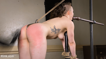 Photo number 9 from Back to Basics: Real-life BDSM training shot for Kinky Bites on Kink.com. Featuring Lucas Ayers and Hazel Paige in hardcore BDSM & Fetish porn.
