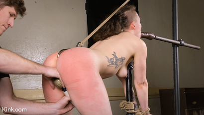 Photo number 16 from Back to Basics: Real-life BDSM training shot for Kinky Bites on Kink.com. Featuring Lucas Ayers and Hazel Paige in hardcore BDSM & Fetish porn.