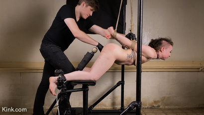 Photo number 20 from Back to Basics: Real-life BDSM training shot for Kinky Bites on Kink.com. Featuring Lucas Ayers and Hazel Paige in hardcore BDSM & Fetish porn.