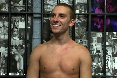 Photo number 15 from Young stud is bound for the first time at Mr. S Leather shot for Bound in Public on Kink.com. Featuring Sebastian Keys and Brenn Wyson in hardcore BDSM & Fetish porn.