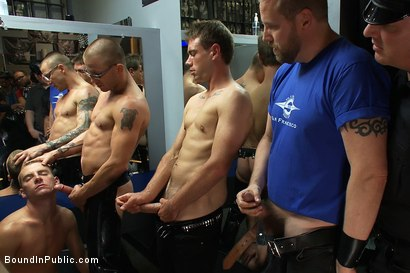 Photo number 13 from Young stud is bound for the first time at Mr. S Leather shot for Bound in Public on Kink.com. Featuring Sebastian Keys and Brenn Wyson in hardcore BDSM & Fetish porn.