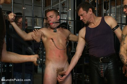 Photo number 5 from Young stud is bound for the first time at Mr. S Leather shot for Bound in Public on Kink.com. Featuring Sebastian Keys and Brenn Wyson in hardcore BDSM & Fetish porn.
