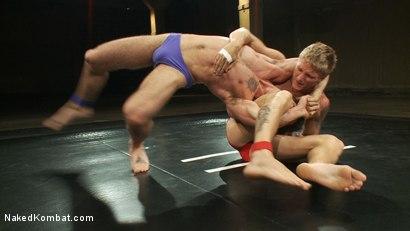Photo number 2 from Phillip Aubrey vs DJ shot for Naked Kombat on Kink.com. Featuring Phillip Aubrey and DJ in hardcore BDSM & Fetish porn.