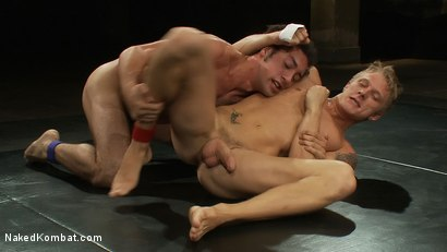 Photo number 9 from Phillip Aubrey vs DJ shot for Naked Kombat on Kink.com. Featuring Phillip Aubrey and DJ in hardcore BDSM & Fetish porn.