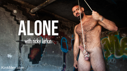 Alone: Ricky Larkin Ties Up His Cock & Balls in an Abandoned Factory