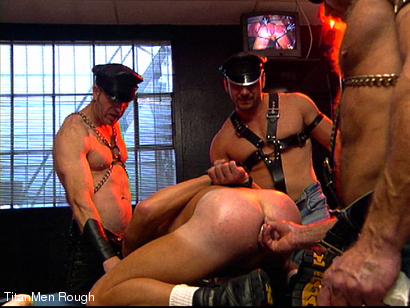 Photo number 21 from FIST DOGS (2 of 4) shot for TitanMen Rough on Kink.com. Featuring Mike Roberts, Keith Webb, Harold Creg, Core Andrews and Marc Masterson in hardcore BDSM & Fetish porn.