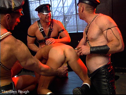 Photo number 29 from FIST DOGS (2 of 4) shot for TitanMen Rough on Kink.com. Featuring Mike Roberts, Keith Webb, Harold Creg, Core Andrews and Marc Masterson in hardcore BDSM & Fetish porn.