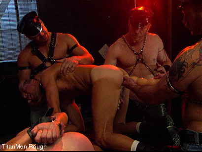 Photo number 32 from FIST DOGS (2 of 4) shot for TitanMen Rough on Kink.com. Featuring Mike Roberts, Keith Webb, Harold Creg, Core Andrews and Marc Masterson in hardcore BDSM & Fetish porn.