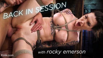 Back in Session! Rocky Emerson Fucked in Suspension for First Time