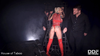 Photo number 5 from Shackled, Gagged & Spanked shot for houseoftaboo on Kink.com. Featuring Sophie Anderson, Yanick Shaft and David Perry in hardcore BDSM & Fetish porn.