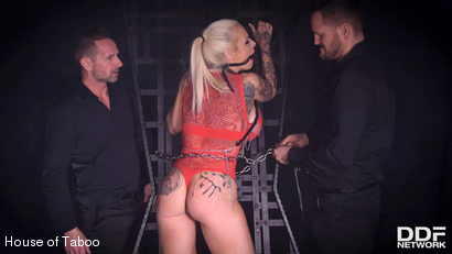Photo number 7 from Shackled, Gagged & Spanked shot for houseoftaboo on Kink.com. Featuring Sophie Anderson, Yanick Shaft and David Perry in hardcore BDSM & Fetish porn.