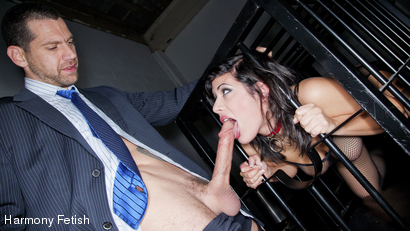 Filthy French Whore Caged And Fucked
