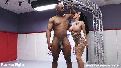 Muscle Man vs. Petite Tattooed Female