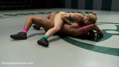 Photo number 4 from Welcome to the beginning of<br> SEASON EIGHT!<br>New faces, new rivalries, NON-SCRIPTED ACTION! shot for Ultimate Surrender on Kink.com. Featuring Dee Williams and Mia Stiletto in hardcore BDSM & Fetish porn.