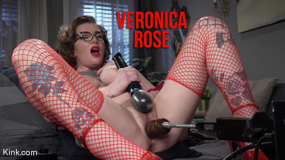 The House Sitter: Busty Pin-Up Babe Veronica Rose Gets Off