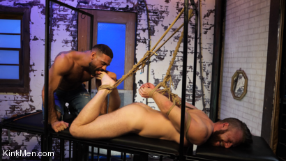 Photo number 4 from Foot Fanatic shot for Kinky Bites Men on Kink.com. Featuring Ricky Larkin and Brian Bonds in hardcore BDSM & Fetish porn.