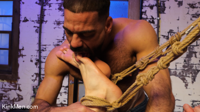 Photo number 5 from Foot Fanatic shot for Kinky Bites Men on Kink.com. Featuring Ricky Larkin and Brian Bonds in hardcore BDSM & Fetish porn.