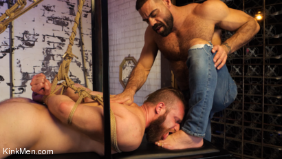Photo number 18 from Foot Fanatic shot for Kinky Bites Men on Kink.com. Featuring Ricky Larkin and Brian Bonds in hardcore BDSM & Fetish porn.