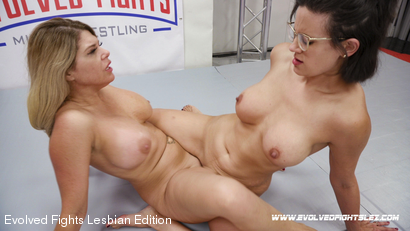 Busty MILFS in Competitive Erotic Wrestling