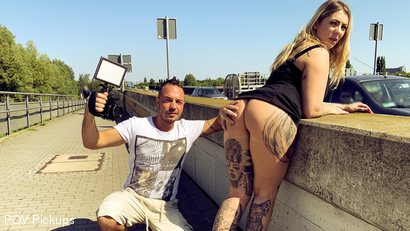 Andy Star meets gorgeous cock sucker Mia Blow in Berlin