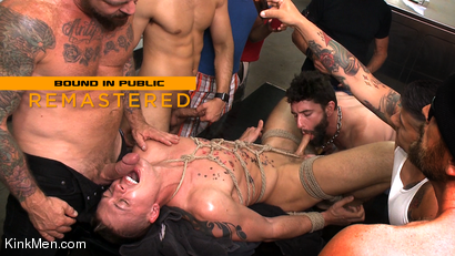 Tyler Rush: Edged, Tormented and Gang Fucked in a Dirty Laundromat