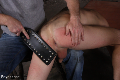 Photo number 3 from Kenzie Gets Spanked By Sebastian  shot for Boynapped on Kink.com. Featuring Kenzie Madison and Sebastian Kain in hardcore BDSM & Fetish porn.