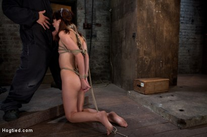 Photo number 11 from Sexy Emma Haize totally helpless as cock is jammed down her throat<br> Left on the floor to suffer shot for Hogtied on Kink.com. Featuring Emma Haize in hardcore BDSM & Fetish porn.