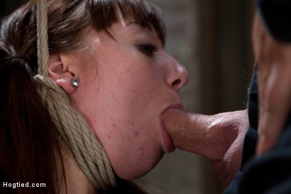 Photo number 7 from Sexy Emma Haize totally helpless as cock is jammed down her throat<br> Left on the floor to suffer shot for Hogtied on Kink.com. Featuring Emma Haize in hardcore BDSM & Fetish porn.