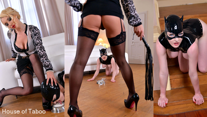 Dominatrix Gives Submissive Lots of Spanking, Part 1
