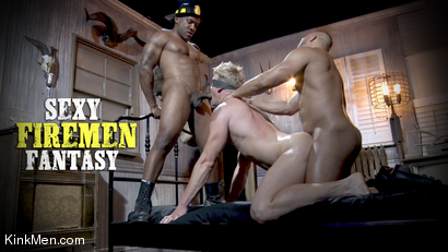 Roman Eros Doused with Cum In Sexy Firemen Fantasy