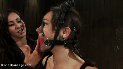 Photo number 9 from Will You Be My Little Piggy Today? shot for devicebondage on Kink.com. Featuring Isis Love and Sinn Sage in hardcore BDSM & Fetish porn.