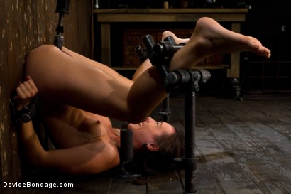 Photo number 12 from Q:  How do you make a tough, sexy girl scream in total agony? shot for Device Bondage on Kink.com. Featuring Isis Love and Sinn Sage in hardcore BDSM & Fetish porn.