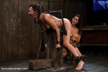 Photo number 13 from Bent Over a Post and Fucked shot for Device Bondage on Kink.com. Featuring Isis Love and Sinn Sage in hardcore BDSM & Fetish porn.