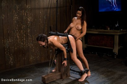 Photo number 9 from Bent Over a Post and Fucked shot for Device Bondage on Kink.com. Featuring Isis Love and Sinn Sage in hardcore BDSM & Fetish porn.