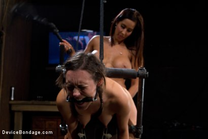 Photo number 8 from Bent Over a Post and Fucked shot for Device Bondage on Kink.com. Featuring Isis Love and Sinn Sage in hardcore BDSM & Fetish porn.
