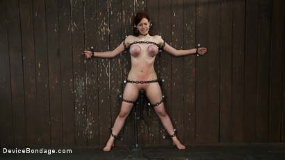 Photo number 14 from Gorgeous All Natural 19 Year Old Newbie Chained to the Wall shot for Device Bondage on Kink.com. Featuring Iona Grace in hardcore BDSM & Fetish porn.